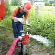 Wasserentnahme Unterflurhydrant