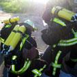 Rettungsaktion beim Atemschutznotfalltraining