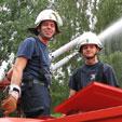 Pumpenausbildung am Heidesee - Feuerwehr Halle-Diemitz