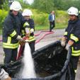 Behelfsbecken 15.08.08 - Feuerwehr Halle-Diemitz
